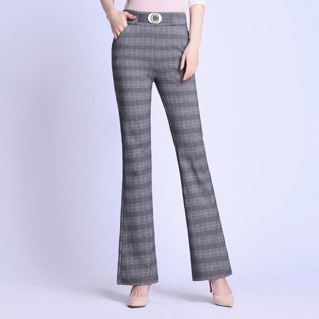 Elasticity Bell Bottom Pants  4
