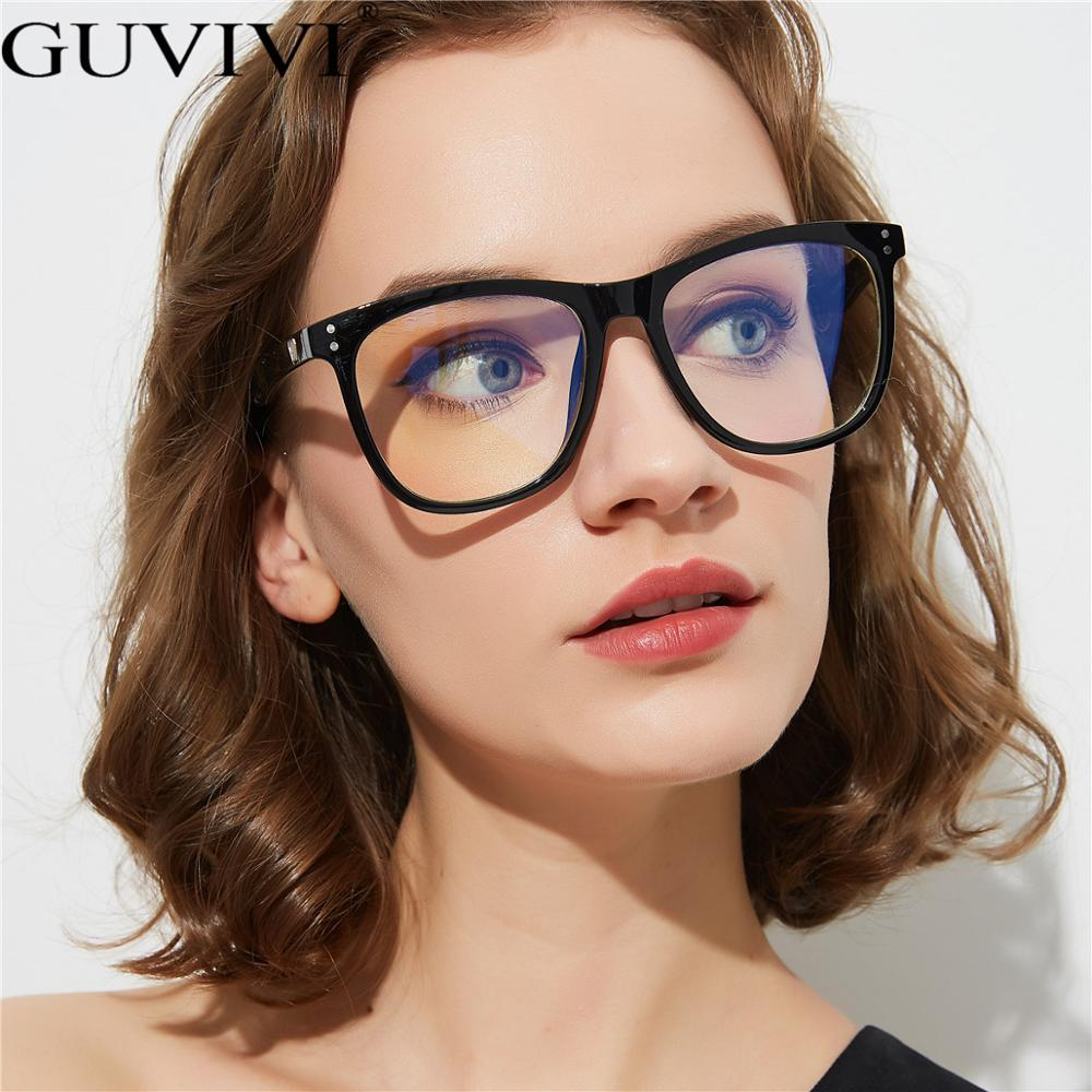 Guvivi Women Oversized Leopard Anti Blue Ray Light Glasses For Computer Protection Anti Radiation Blocking Gaming Men Glasses