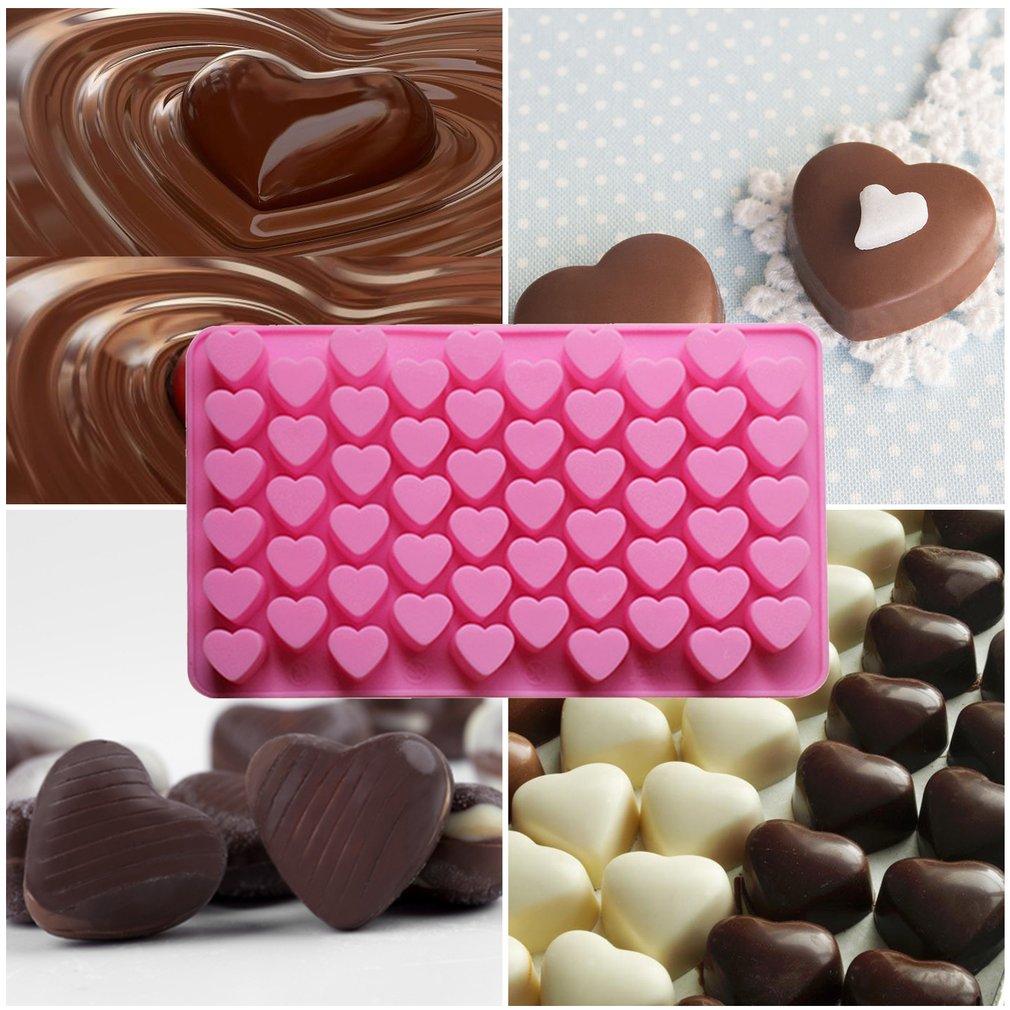 DIY 55 с отверстиями в форме сердца Мягкая силиконовая форма для выпечки торта шоколадное украшение силиконовые Кухня выпечки инструменты
