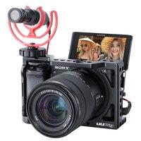 UURig R009 Metal Camera Cage for Sony Alpha A6400 A6300 A6100 Hand Grip Camera Rig DSLR Camera Accessories