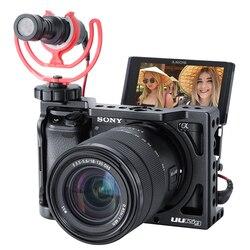 Uurig r009 gaiola de câmera de metal para sony alpha a6400 a6300 a6100 aperto da mão equipamento de câmera dslr acessórios da câmera