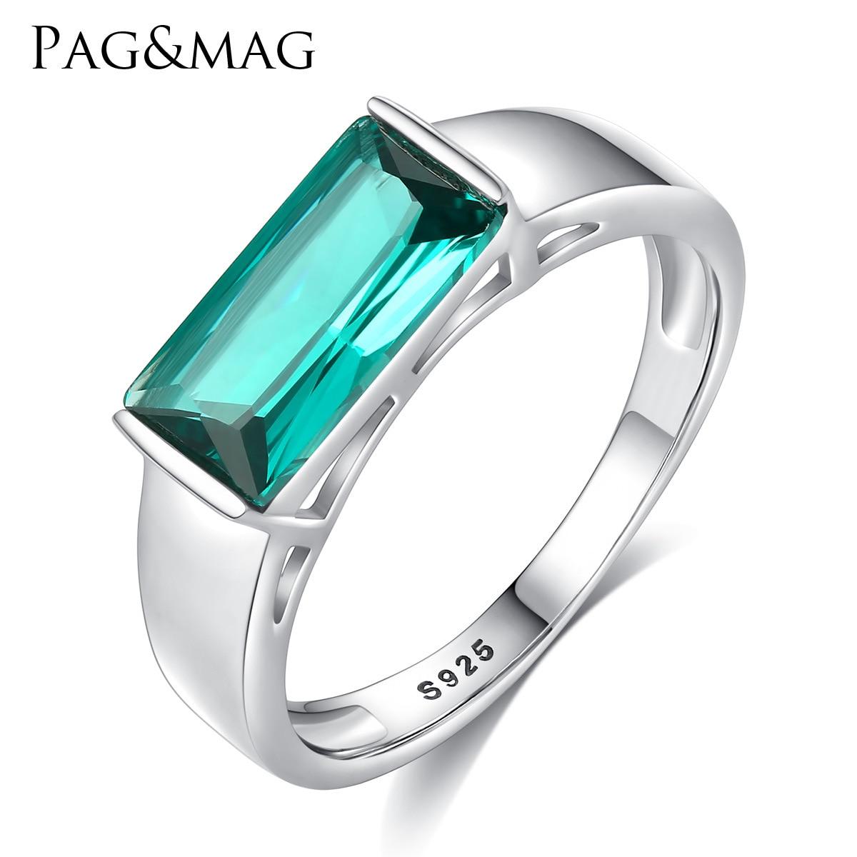 PAG & MAG S925 anneau carré design simple et atmosphérique femmes main ornement
