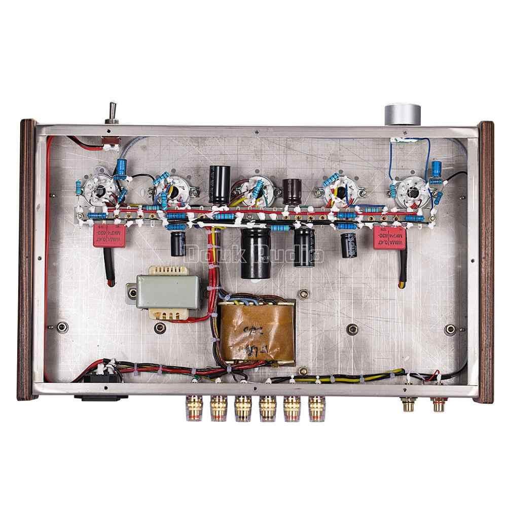 Douk аудио обновленный 6N9P Push EL34 усилитель клапанной трубки чистый ручной работы строительные леса Hi-Fi стерео класса A усилитель мощности