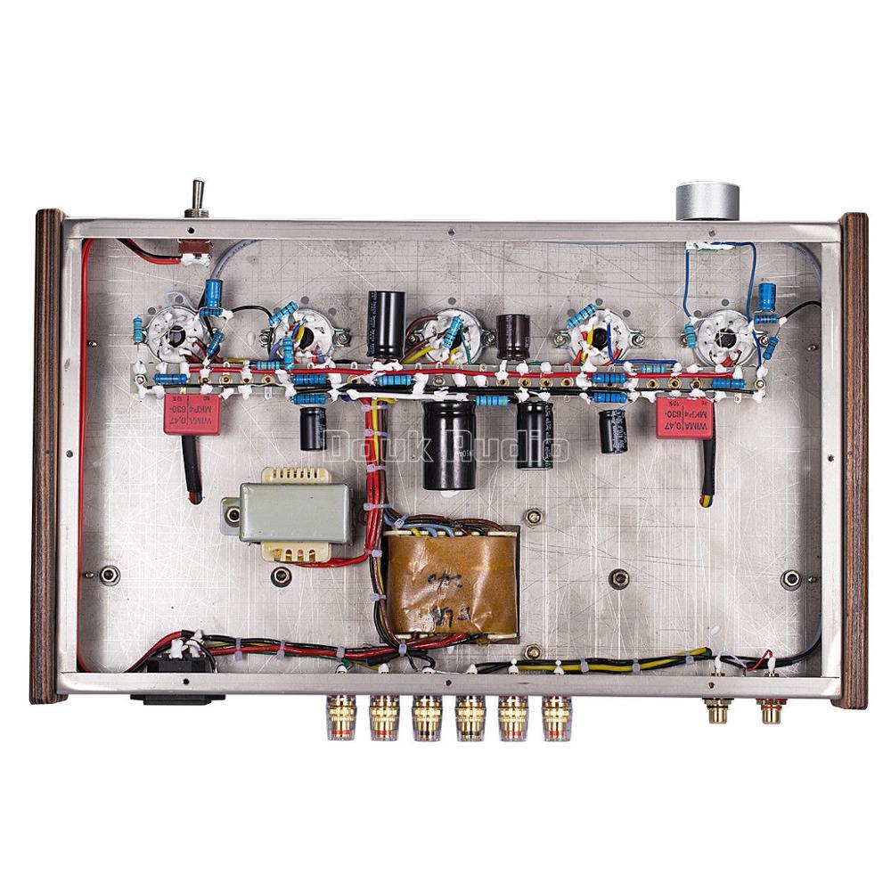 Douk audio Updated 6N9P Push EL34 Valve Tube Amplifier Pure Handmade Scaffolding Hi Fi Stereo Class A Power AMP - 6