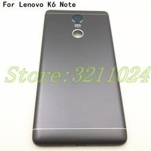 Original For Lenovo K6 Note / K6 Plus K53a48 Metal Back Battery Cover Door Housing case Rear parts with side key+Camera Lens