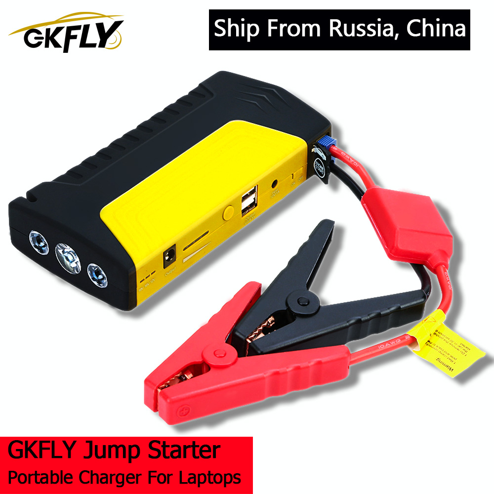 GKFLY Emergency 600A Car Jump Starter Power Bank 12V Portable Starting Device Car Charger For Car Battery Booster Buster LED