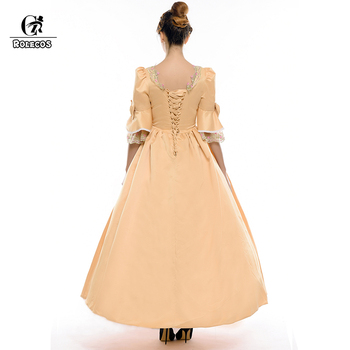 ROLECOS European Victorian Retro Dress Eight Color Renaissance Medieval Evening Dress Ball Gowns Princess Women Cosplay Costumes 2