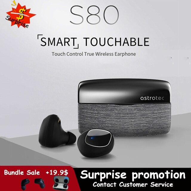Astrotec S80 ワイヤレスbluetooth 5.0 ヘッドセットtws双子防水スポーツイヤホンノイズリダクション低音真ワイヤレスイヤフォン