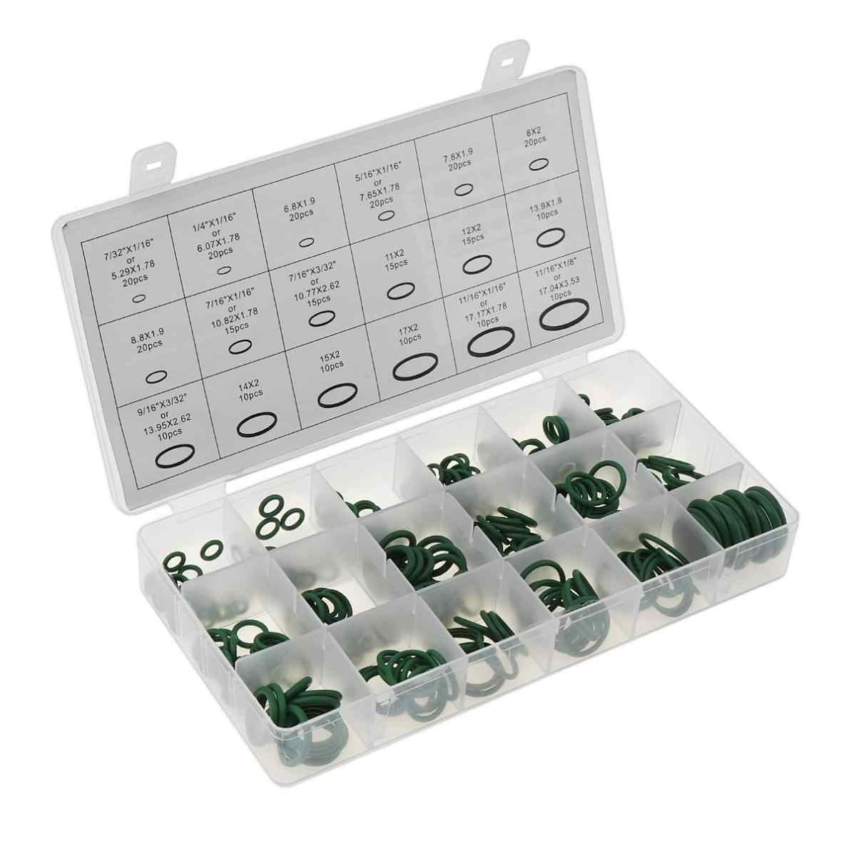 270 sztuk/partia wysokiej temperatury gumy o-ring zielony zestaw uszczelek zestaw uszczelek samochodowych klimatyzacji czynnika chłodniczego