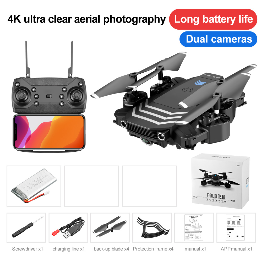 LS11 RC Drone 4K With camera HD Wifi fpv Foldable Dron Helicopter Professional Quadcopter Portable Selfie Drones Toys for boys