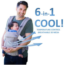 6-in-1 Baby Carrier - Ergonomic, Convertible, face-in and face-Out, Front and Back Carry for Newborns and Older Babies 8-32 lbs