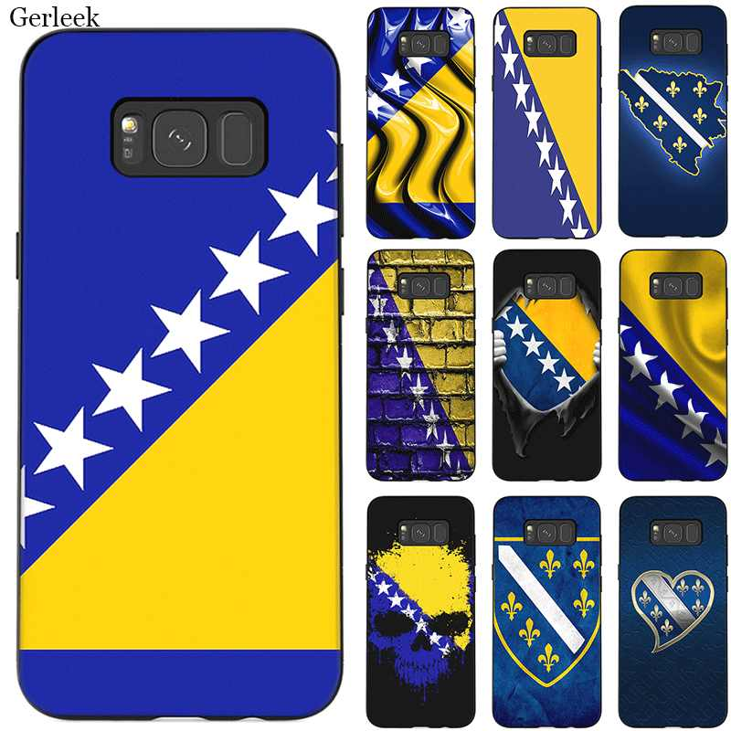 Mobile Phone Case For Samsung Galaxy A50 A70 A10 A30 A40 A3 A5 A6 A7 A8 A9 J6 Cover Protection Flag Of Bosnia And Herzegovina