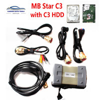 Super quality MB Star C3 Diagnosis Professional Diagnostic Tool MB C3 Multiplexer All New Red Relay 12V & 24V HDD