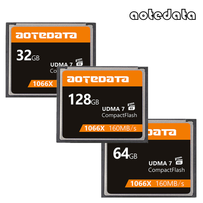 Promorion!!! UDMA 7 CF Card 1066x 128GB 64GB 32GB Memory Card Compact Flash Cards Compactflash High Speed 160mb/s