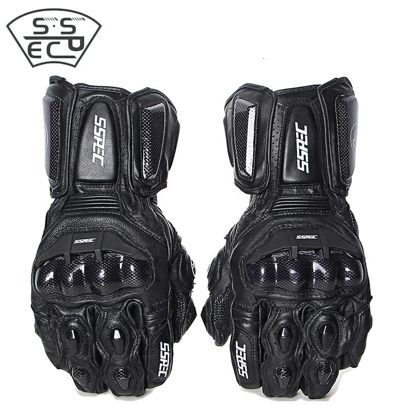 Motorcycle Gloves Leather Summer Winter Men Women Carbon Cycling Guantes Moto Bike Riding Motorcross ATV Glove Free Shipping