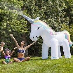 Été maison PVC Animal saupoudrer parc aquatique gonflable en plein air plage jouet enfants jouer eau licorne pulvérisation eau jouets famille jeu