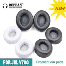 Poduszka zastępcza wkładki do uszu nauszniki nauszne do słuchawek JBL V700BT (JBL EVEREST 700) i V700NXT (JBL EVEREST ELITE 700) tanie tanio defean FOR JBL EVEREST 700 ELITE for JBL V 700 BT V700 V-700 V700BN V710BT Skórzane
