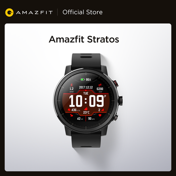 Оригинальный Amazfit Stratos Смарт-часы Bluetooth GPS подсчет калорий монитор сердца 50 м Водонепроницаемый для iOS и Android телефон