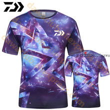 2020 DAIWA Summer Fishing Tshirt Fishing Tee Outdoor Breathable Men Sports Cycling Running Coolmax Quick Dry Fishing Clothes(China)