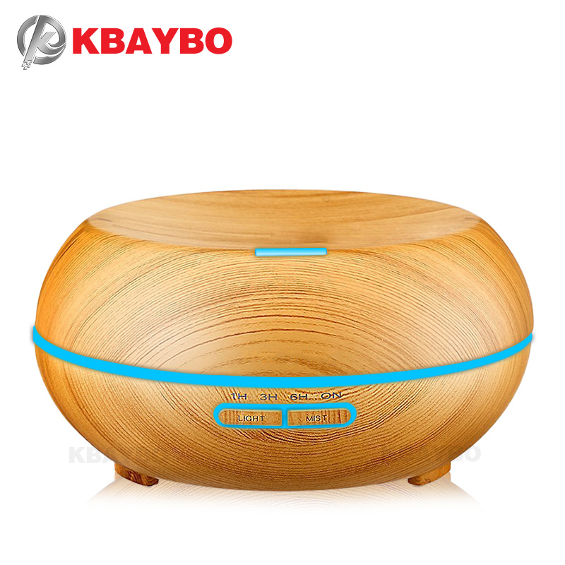 200ml Aroma Air Humidifier Essential Oil Diffusers Wood Grain Ultrasonic Humidifier for Office Home Bedroom Living Room