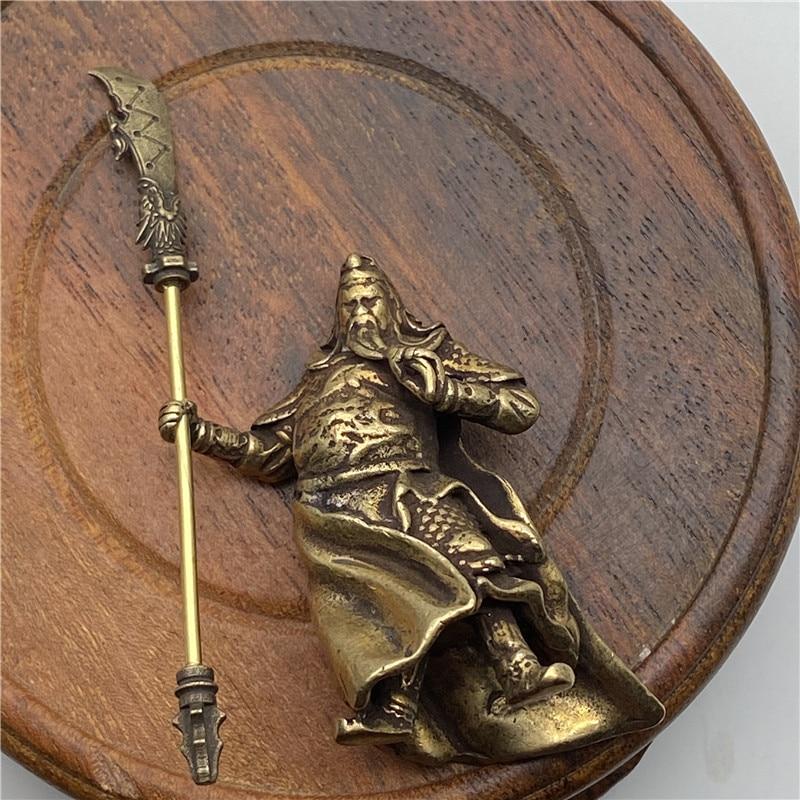 Brass Guangong Figurines (10)