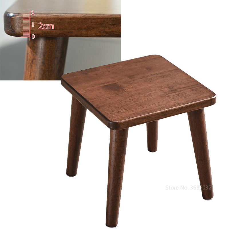 Solid Wooden Stool Home Small Chair Adult Formaldehyde-free Oak Wood Ottoman Living Room Small Stools Children Bench