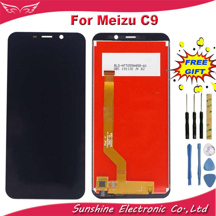 שמש לmeizu C9 M818H LCD תצוגת מסך החלפת Digitizer לmeizu C9 LCD עצרת