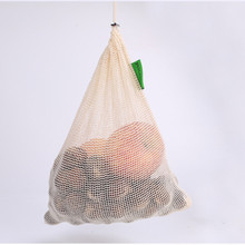 Mesh Cotton Reusable Produce Bags Multipurpose Washable Drawstring Gifts For Party Favors Fuit Packaging Pouches