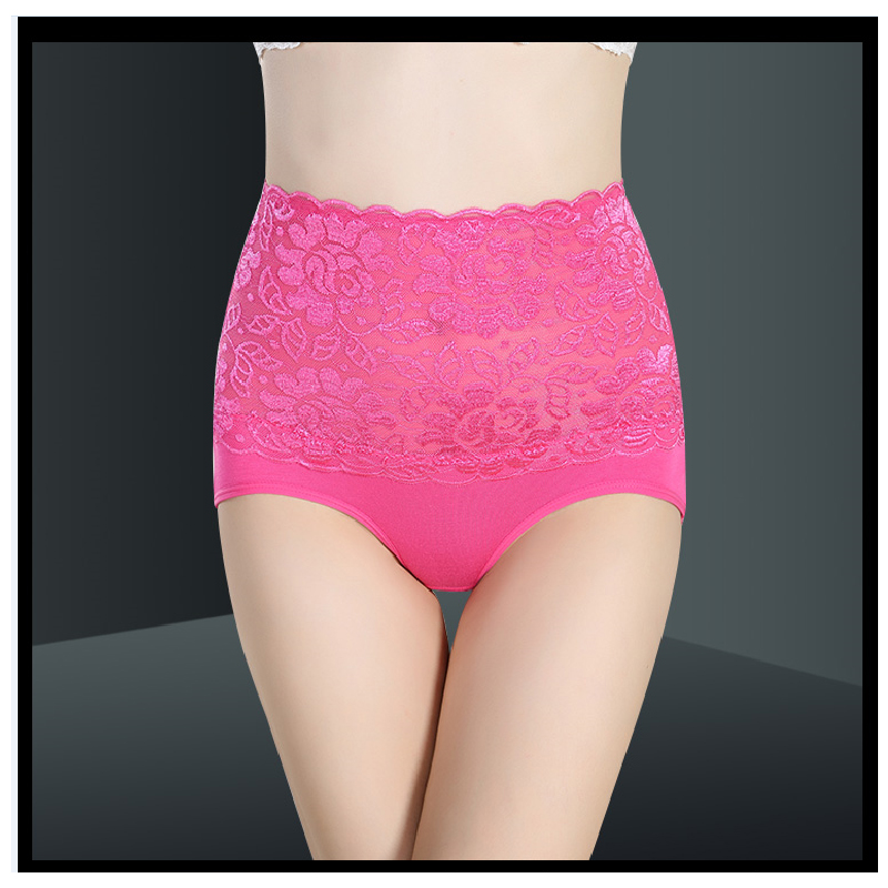 Sexy lace transparent panties women high waist no trace ladies briefs