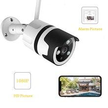 Wdskivi Мини HD 1080P Водонепроницаемая наружная IP камера WiFi камера видеонаблюдения цилиндрическая камера видеонаблюдения с металлическим корпусом Onvif iCSee