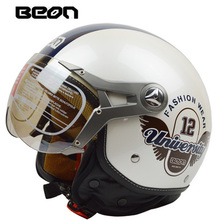 Motorcycle half face helmet for women and men ,BEON 100b casco motocross electri