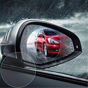 2 Pcs Car Mirror Film Waterproof Antifogging Film Rear View Mirror Water Resistant Water Mask Rearview Mirror Water Rain Film