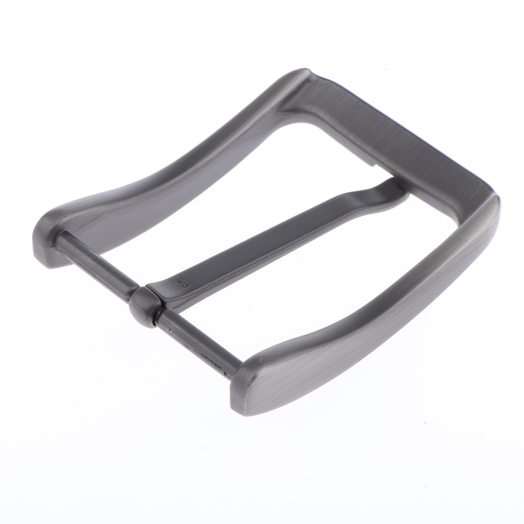 2pcs Casual Alloy Single Prong Rectangular Belt Buckle Metal Pin Buckle Replacement 6.5cm