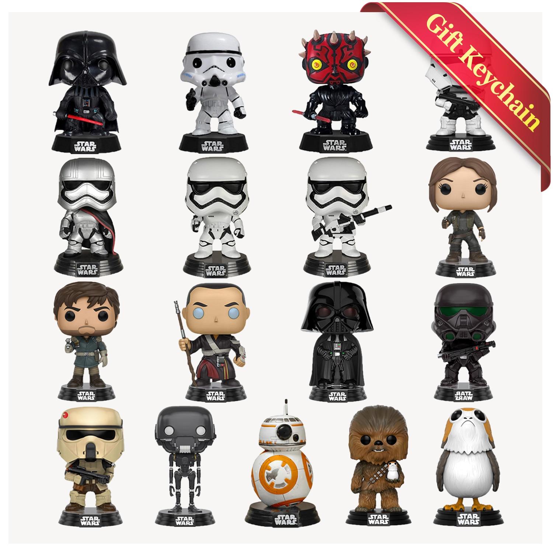 5 Pcs//Set Star Wars Han Solo Death Trooper Luke Skywalker PVC Figure Model Toy