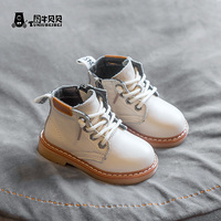 Baby Martin boots 1 3 years old 2019 autumn shoes spring and autumn tide shoes baby male soft bottom children leather boot