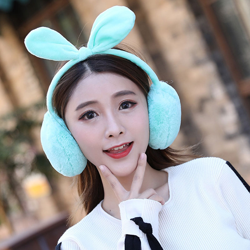 New 2019 Cute Winter Warm Earmuff For Girls Plush Warm Rabbit Ears Earcap Children Lovely Winter Earmuffs Ear Cover Earwarmers