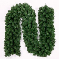 2.7 M PVC DIY Green Christmas RattanChristmas Rattan Encrypted Naked for Mall Window Decorations Christmas Ornaments