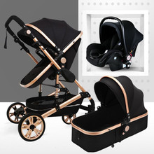 Luxury 3 in 1 Baby Stroller High Landview Infant Stroller Portable Baby