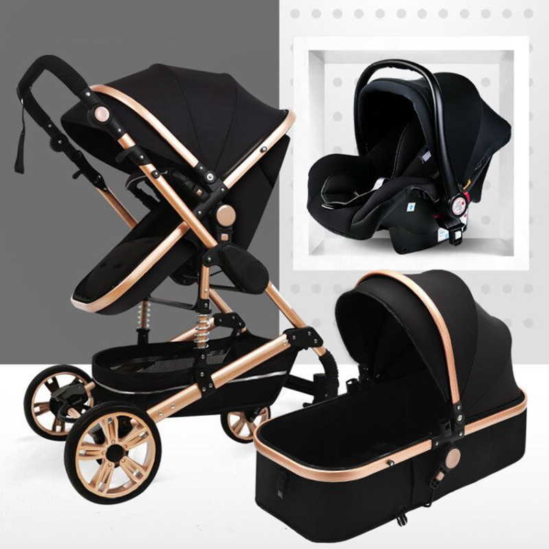 Luxury <font><b>3</b></font> <font><b>in</b></font> <font><b>1</b></font> <font><b>Baby</b></font> Stroller High Landview Infant Stroller Portable <font><b>Baby</b></font> Pushchair <font><b>Baby</b></font> <font><b>Pram</b></font> <font><b>Baby</b></font> Comfort for Newborn 0-36M image