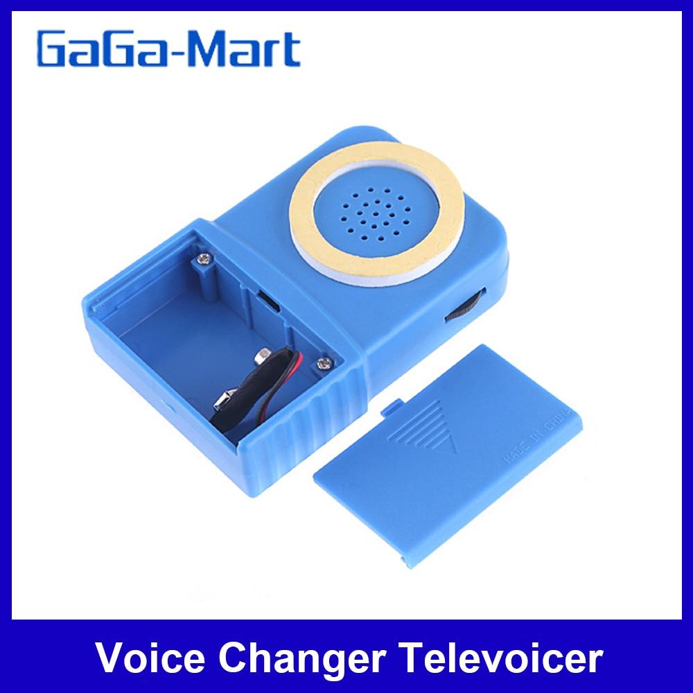 Taşınabilir ses değiştirici 8 sesler değiştirilebilir Mini telefon ses değiştirici Televoicer