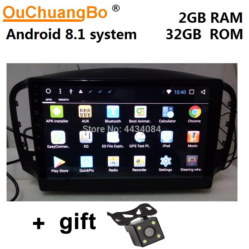 Ouchuangbo voiture audio gps navi android 8.1 pour Roewe MG 350 2011 2012 soutien SWC 1080P gratuit chili israël carte en stock 2GB + 32GB