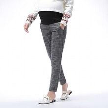Autumn & Winter  Lattice Pregnancy Pants Adjustable Pregnant Pant High Waist Elastic Force for Women Trousers