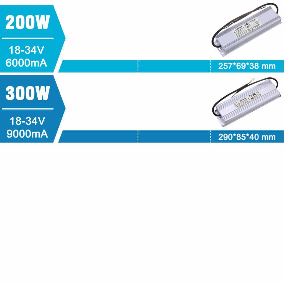 Controlador LED de 10W, 20W, 30W, 40W, 50W, 80W, 100W, 200W, 300 W, fuente de alimentación para transformadores de iluminación DIY, lámpara de 10, 20, 30, 50, 100, 200 y 300 W