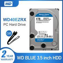 WD Original Blau 4TB Hdd Sata 3.5 Interne Festplatte HDD für PC WD40EZRZ Western Digital 4tb hdd disco duro Desktop