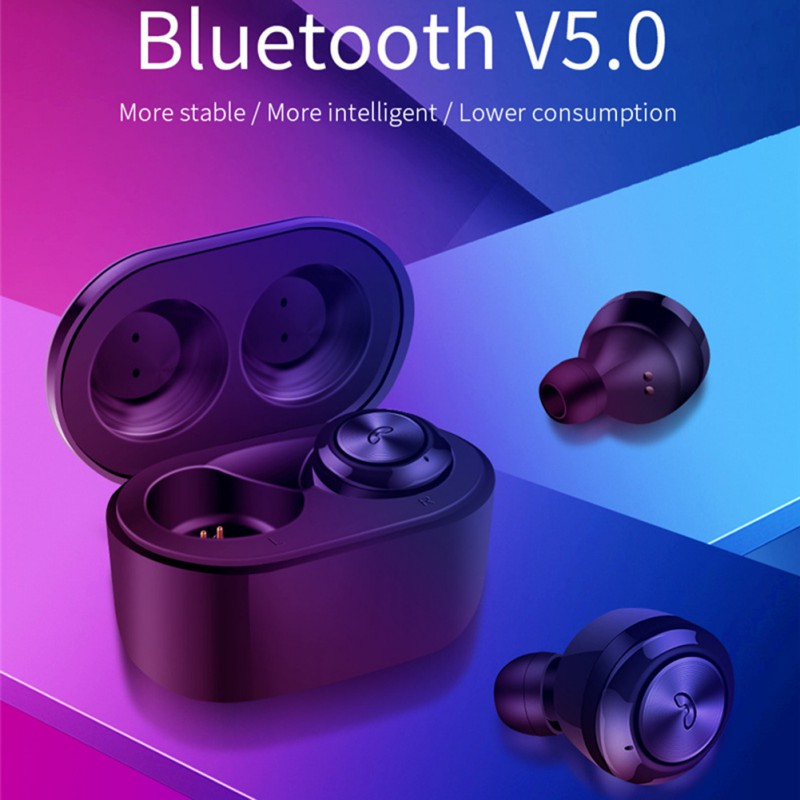 TWS Bluetooth 5.0 Earphones Wireless Stereo Bluebooth Earpho Memory Card