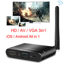 Wireless Wifi HD 1080P HDTV VGA AV Display Adapter Miracast Airplay DLNA Screen Mirroring for IPhone XR IOS Android Phone To TV