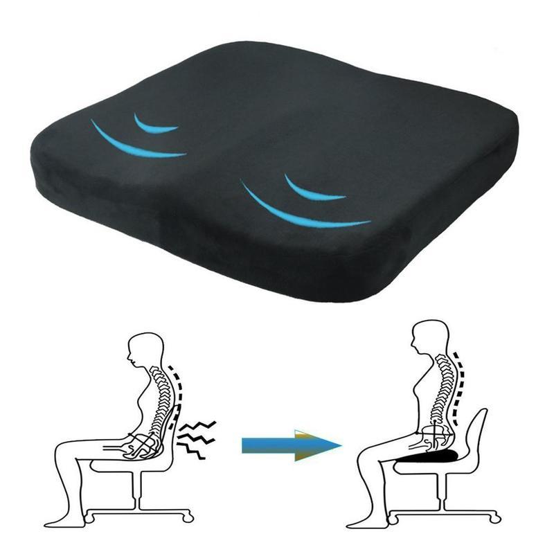 Almofada antiderrapante ortopédico memória espuma cóccix almofada para cóccix cócciatica dor nas costas alívio conforto cadeira de escritório assento de carro