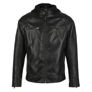 Image 5 - Jack Jones  Mens Biker Outwear PU Leather Jacket