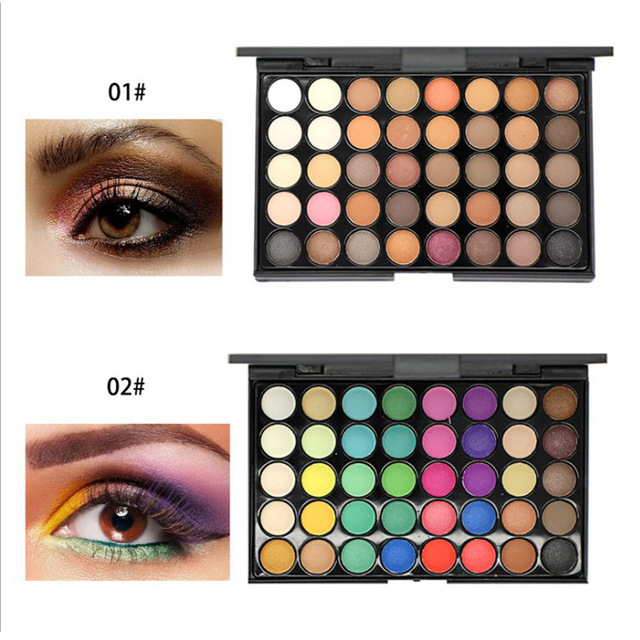 40 Colors Shimmer Glitter EyeShadow Palette Waterproof Diamond Nude Matte Eye Shadow Cosmetic Long Lasting Eye Primer Pigment
