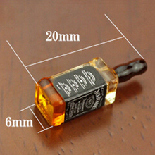 Simulation-Model-Toys Dollhouse Miniature-Accessories Whisky-Bottle Resin for Decor 2pcs
